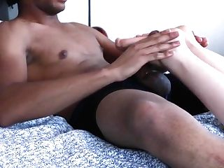 Big Black Cock Footjob