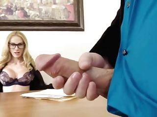 Blonde Manager Fucking Hard In The Office