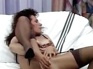 Horny Homemade Brown-haired, Stockings Porno Vid