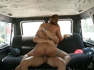 Buxom Sandy-haired Cougar Had Hard Lovemaking With Her Stud In His Car
