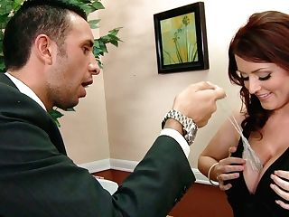 Dark Haired Huge-boobed And Curvy Honey With Nice Culo Sophie Dee Fellates The Dick