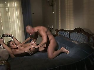 Sexy Fair Haired Cougar In Crimson Night Sundress Gets Her Kitty Banged In Various Poses