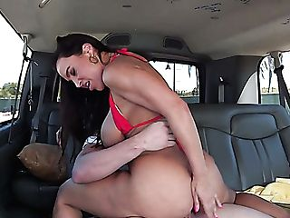 Stunning Dark Haired Hoe Lisa Ann Is Smashed In The Car