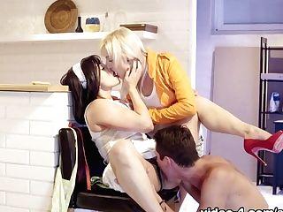 Exotic Superstars Lea Lexus, Katy Rose In Incredible Cougar, Big Backside Orgy Scene