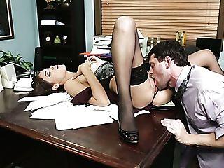 Sexy Assistant Jasmine Caro Serves Her Manager Preston Parker