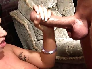 Tattooed Dark-haired Gets A Severe Banging With A Jumbo Penis