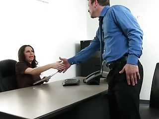 Swanky Seductress Dayton Rains Hoks Up With Her Biz Playmate Right In The Office