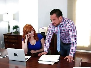 Fantastic Ginger Assistant Lauren Phillips Gonna Be Decently Fucked In The Office